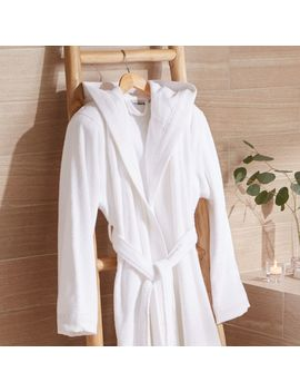 White L/Xl Turkish Bath Robe by Crate&Barrel