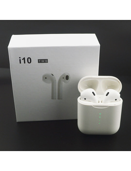 I10 Tws Wireless Bluetooth 5.0 Earbuds Earphone Auto Turn On/Off Wireless Charging With Mic Charging Box For Android I Phone I Pad by Karabale
