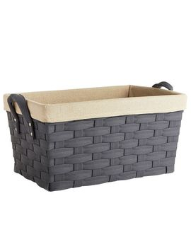 Harper Gray Wicker Large Basket by Pier1 Imports