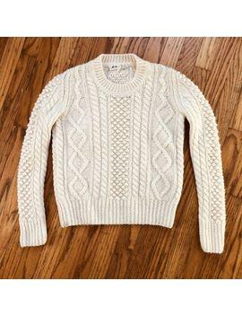 Alexa Chung X Madewell Aimee Fisherman Chunky Knit Cream Ivory Wool Sweater Xs by Alexachung