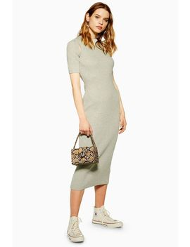Spliced Knitted Dress by Topshop