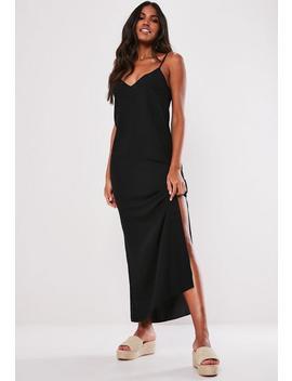 Black Split Leg Maxi Dress by Missguided