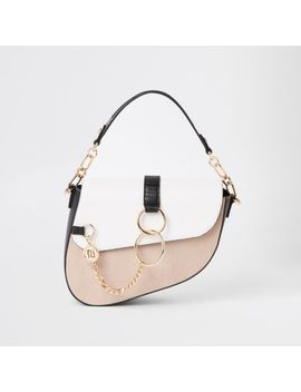 Light Beige Underarm Saddle Bag by River Island