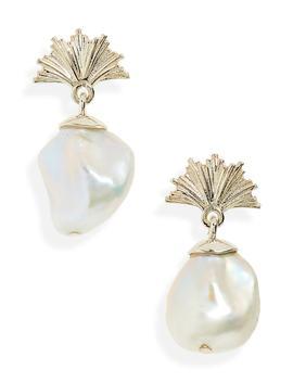 Small Vita Cultured Freshwater Pearl Drop Earrings by Meadowlark