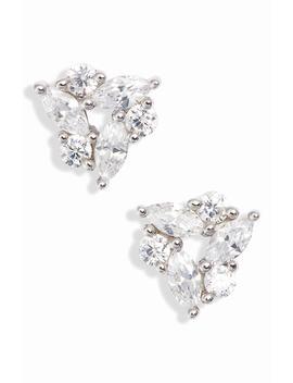 Trinity Cubic Zirconia Stud Earrings by Nordstrom