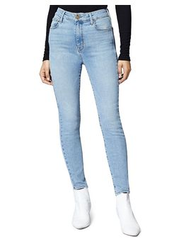 Social High Rise Skinny Ankle Jeans In Light Blue by Sanctuary