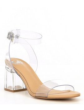 New Skool Vinyl Two Piece Block Heel Pumps by Gb