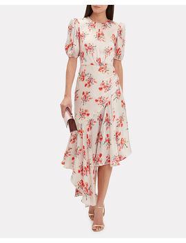 Bettina Floral Asymmetric Dress by Amur