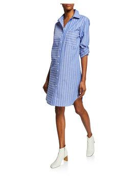 Parker Mixed Stripe Long Sleeve Shirtdress by Finley