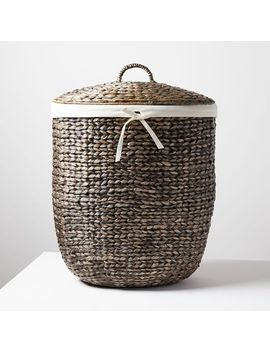 Tall Curved Basket by West Elm