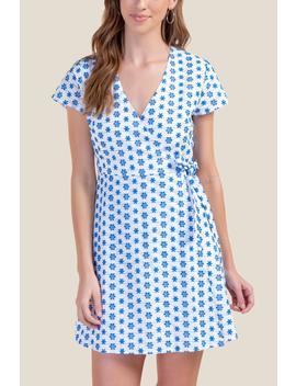 Janet Eyelet Wrap Dress by Francesca's