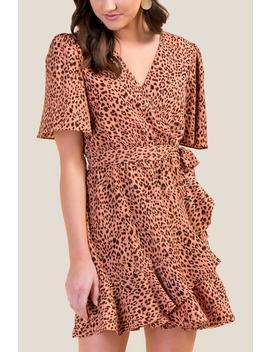 Eliza Leopard Wrap Dress by Francesca's