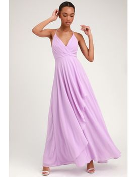 Love Forever Lavender Backless Maxi Dress by Lulus