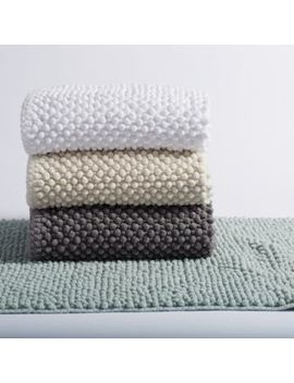 Pebbled Chenille Organic Cotton Bath Rug Collection by Coyuchi