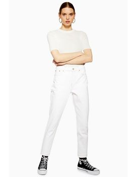 Petite Off White Mom Jeans by Topshop