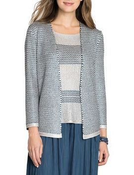 Textured Open Front Cardigan by Nic+Zoe