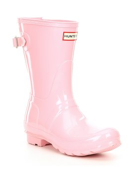 Original Short Gloss Back Adjustable Rain Boots by Hunter