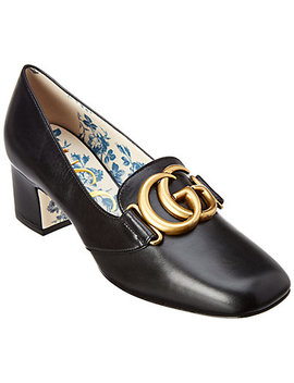 Gucci Victoire Gg Leather Pump by Gucci