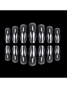 Ecbasket 500 Pcs Coffin Nails Clear Ballerina Nail Tips Perfect Length Acrylic Nails Full Cover False Artificial Nails 10 Sizes For... by Ecbasket