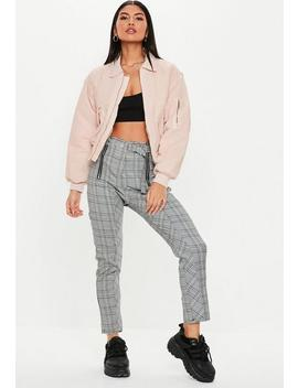Blush Ultimate Padded Utility Bomber Jacket by Missguided