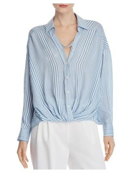 Striped Boyfriend Blouse   100 Percents Exclusive by Chriselle Lim