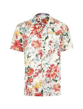 Pepe Jeans Red Tropical Print Shirt by River Island