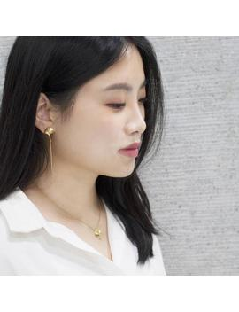 18 K Gold Ginkgo Asymmetric Drop Earrings by Etsy