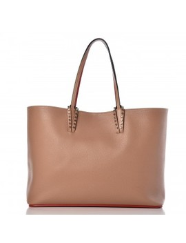 Christian Louboutin Calfskin Spikes East West Cabata Tote Nude by Christian Louboutin