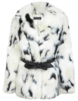 Miss Selfridge Dalmatian Faux Fur Coat, Multi by Miss Selfridge