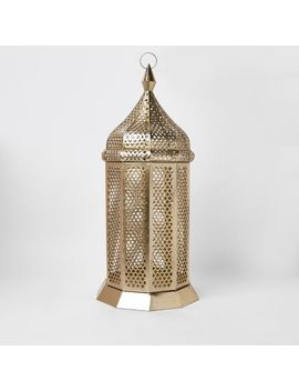 Gold Oversized Floor Lantern by River Island