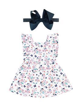 Berry Sweet Dress & Head Wrap Set by Rufflebutts