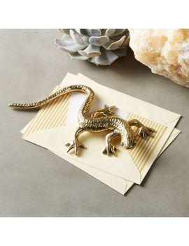 Gemi Brass Gecko Object by Crate&Barrel