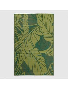 Green Tropical Reversible Indoor Outdoor Rio Floor Mat by World Market