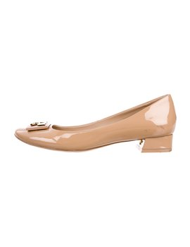 Patent Leather Round Toe Pumps by Tory Burch