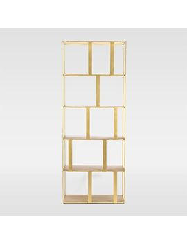 Modern Industrial Bookshelf   Brass by West Elm