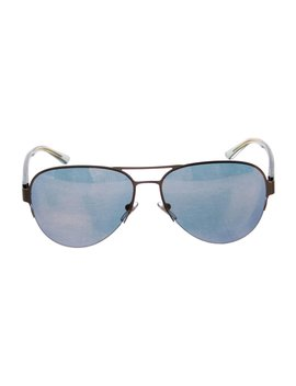 Mirror Metallic Aviator Sunglasses by Tory Burch