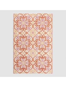 Orange Medallion Reversible Indoor Outdoor Rio Floor Mat by World Market