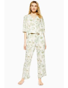 Tropical Palm Pyjama Trousers by Topshop