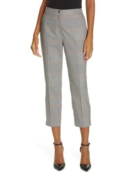 Plaid Crop Trousers by Ted Baker London