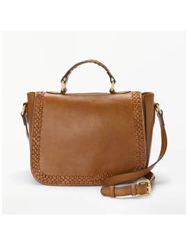 And/Or Isabella Leather Whipstitch Saddle Bag, Tan by And/Or