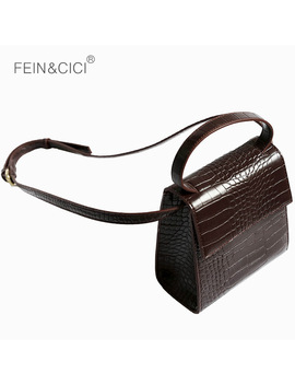 Box Bag Animal Print Alligator Leather Bag Handbag Women Vintage Bags 2018 Luxury Brand Wholesale Drop Shipping by Fein&Cici