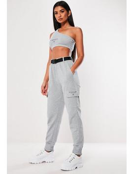 Grey Cargo Pocket Joggers by Missguided