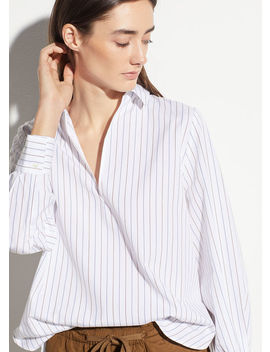 Bar Stripe Swing Front Pullover by Vince