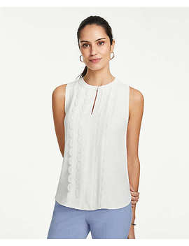 Scalloped Lace Trim Shell by Ann Taylor