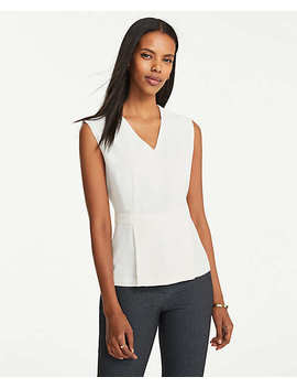 Wrap Peplum Top by Ann Taylor