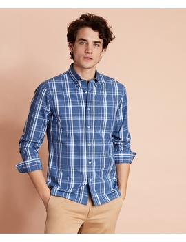Plaid Cotton Broadcloth Sport Shirt by Brooks Brothers
