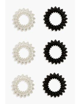 Spiral Hair Bobble 6 Pack by Boohoo