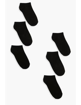 6 Pack Trainer Socks by Boohoo