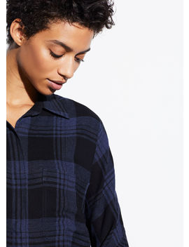 Heathered Plaid Pullover by Vince