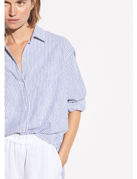 Oversized Space Dye Stripe Shirt by Vince
